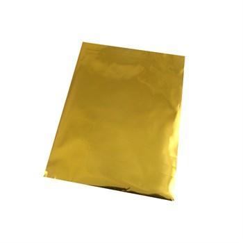 Saquinho Metalizado Presente com Aba Adesiva - Dourado - 8 x 8 cm - SQ07
