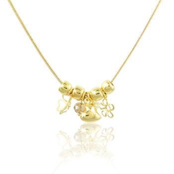 Gargantilha Flores, Pedras e Coração - GA60
