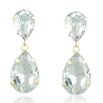 Brinco Pedra Cristal - BR343