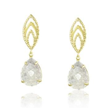 Brinco Pedra Cristal - BR347