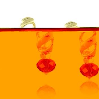 Brinco Cristal Roxo - BR353