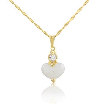 Gargantilha Coração Branco - GA46
