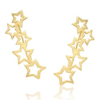 Brinco Estrelas Tipo Ear Cuff - BR271