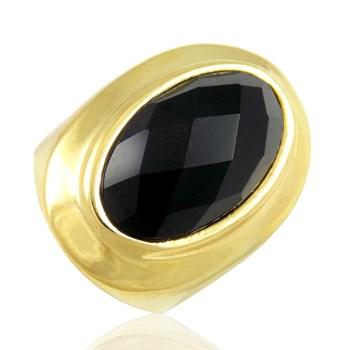 Anel Cristal preto - AN274