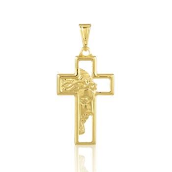 Pingente Cruz Face de Cristo - PG101