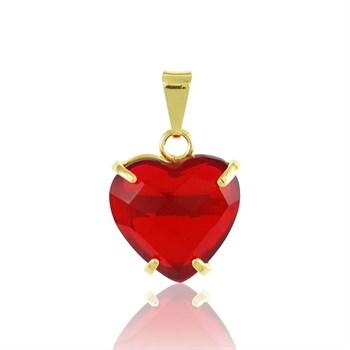 Pingente Coração Vermelho - PG35