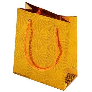Sacolinha Papel Holográfico Dourado - SC01