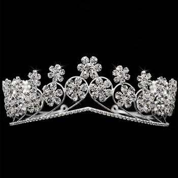 Coroa Cristais Banhada 30 Milésimos Prata - CR02