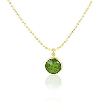 Gargantilha Pedra Verde - 45 cm - GA90