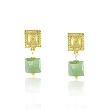 Brinco Cristal Verde - BR696