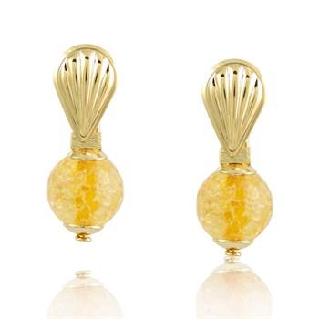 Brinco Cristal Amarelo - BR129