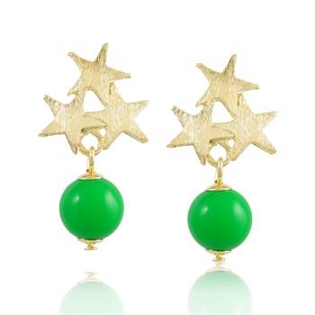 Brinco Estrelas e Pedra Verde - BR132