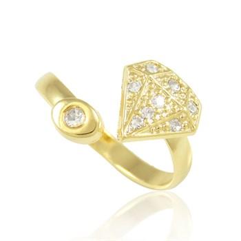 Anel Falange Diamante Cravejado Strass - AN233