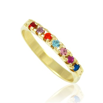 Anel Strass Colorido- AN237