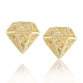 Brinco Diamante Strass - BR83