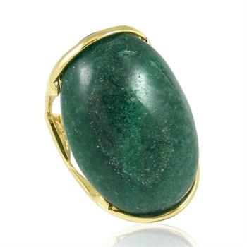 Anel Pedra Natural Verde - AN246