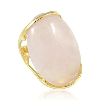Anel Pedra Natural Rosa - AN247