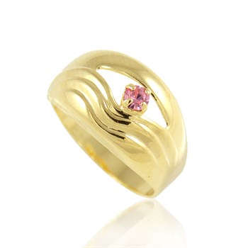 Anel Strass Rosa - AN218