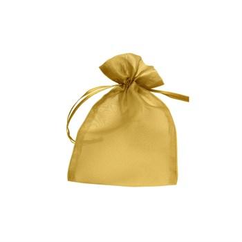 Saquinho Organza Dourado - 10 UND - SQ03