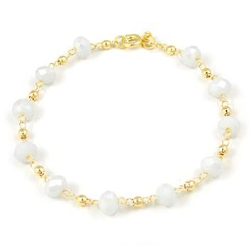 Pulseira Cristal Branco - PL163