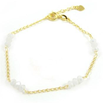 Pulseira Cristal Branco - PL193
