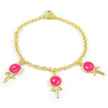 Pulseira Infantil Pirulito Pink - PL175