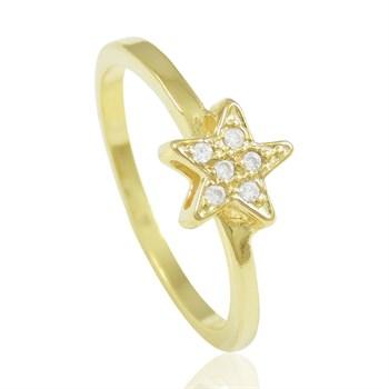Anel Estrela Zircônias - AN1274