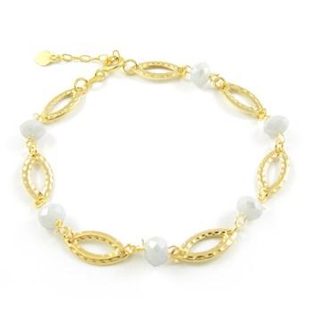 Pulseira Cristal Branco - PL256