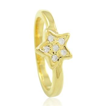 Anel Estrela Zircônias - AN333