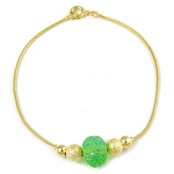 Pulseira Pedra Verde - PL70