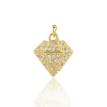 Pingente Diamante cravejado Strass - PG133
