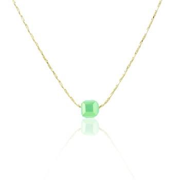 Gargantilha Cristal Verde - GA86