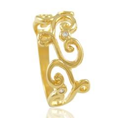 Anel Zircônias Semi joias Atacado  -  AN844