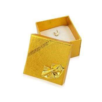 Caixinha Brinco ou Pingente - Dourada - 4 x 4cm - CX20