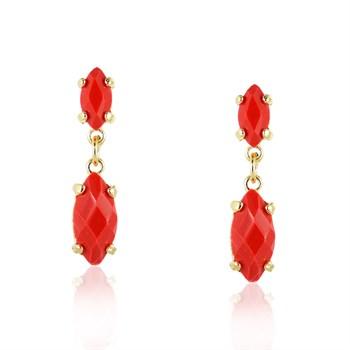 Brinco Pedra Vermelho - BR553