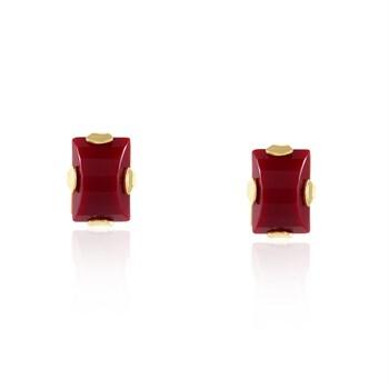 Brinco Pedra Vermelha - BR622