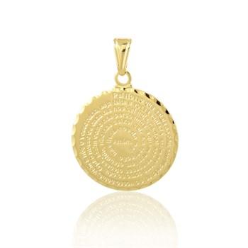 Pingente Medalha Pai Nosso - PG82