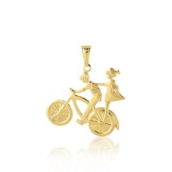 Pingente Casal na Bicicleta - PG92