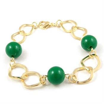 Pulseira Bola Verde - PL124