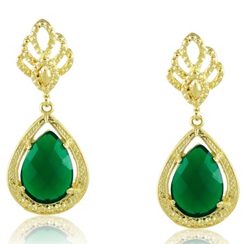Brinco Pedra Verde Esmeralda - BR476