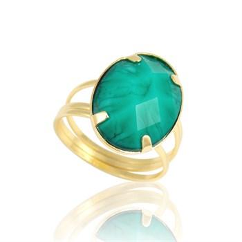 Anel Pedra Verde - AN89