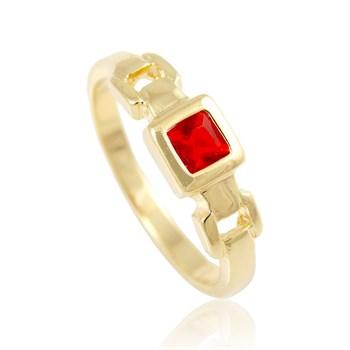 Anel Zircônia Vermelha - AN183