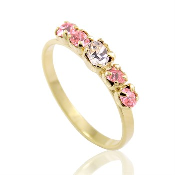 Anel Strass Rosa - AN117