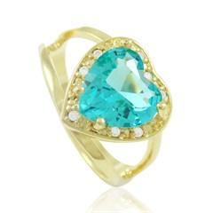 Anel Coração Zircônias Semi joias Atacado  -  AN1297