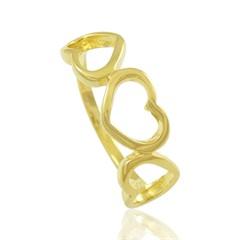 Anel Corações Semi joias Atacado  -  AN1357