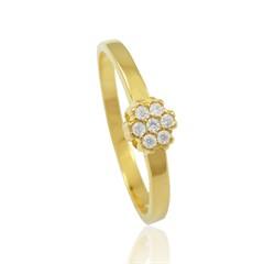 Anel Florzinha Zircônias Semi joias Atacado  -  AN1331