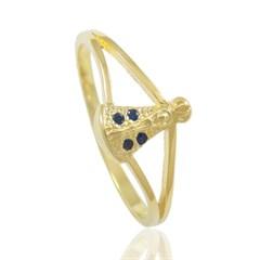 Anel Nossa Senhora Aparecida Zircônias Semi joias Atacado  -  AN1298