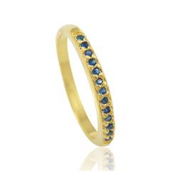 Anel Zircônia Azul Semi joias Atacado  -  AN1326