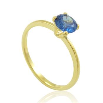 Anel Zircônia Azul - AN1350