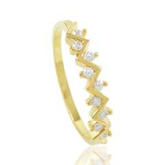 Anel Zircônias Semi joias Atacado  -  AN1392